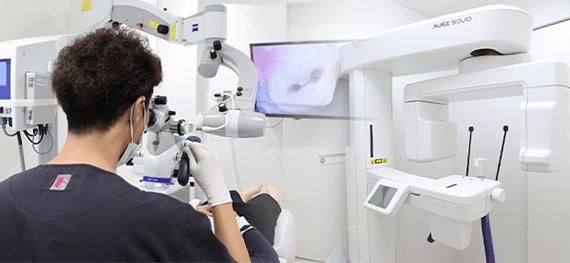 CTやマイクロスコープなど最新設備による精密治療